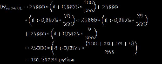 Расчёт будущей стоимости депозита5