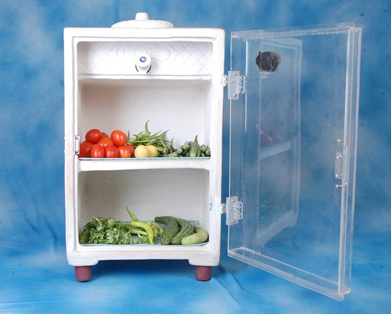 Глиняный холодильник, который охлаждает пищу без электричества