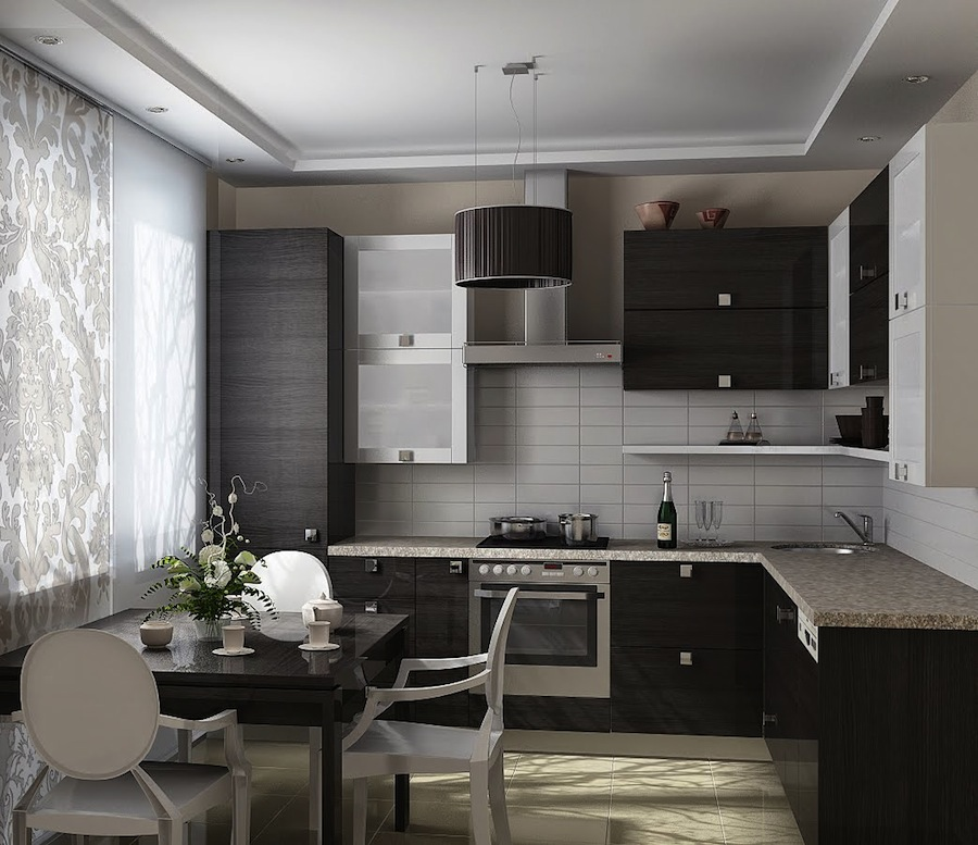 Современные кухни 9 кв.м дизайн фото 2016-2017